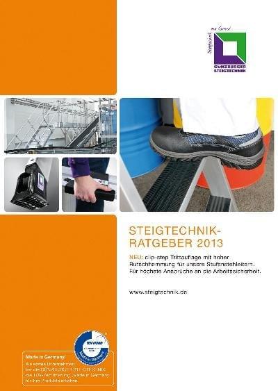 Der neue Steigtechnik-Ratgeber 2013 der Günzburger Steigtechnik. Foto: Günzburger Steigtechnik
