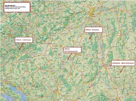 Die bisherigen Tatörtlichkeiten erstrecken sich von Westen nach Osten auf einer Strecke von über 100 km (Luftlinie). Alle bisher bekannten Fälle weisen folgende Gemeinsamkeiten auf.