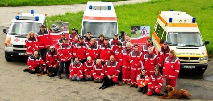 Ausbildungslager des Fachdienstes Rettungshunde BRK BV Schwaben in Leipheim