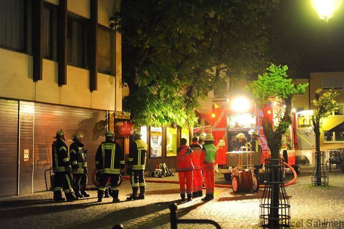 Rauchentwicklung am Marktplatz in Günzburg