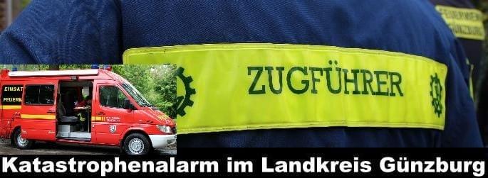 THW, Feuerwehr Günzburg, Katastrophenalarm Günzburg,