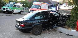 Verkehrsunfall in Burgau in der Haldenwangerstrasse mit sechs teils schwer verletzten am 21.07.2013. Bsaktuell, Nachrichten, Feuerwehr Burgau