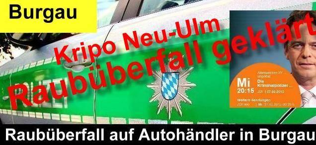 BSAktuell, Nachrichten, Raub Burgau