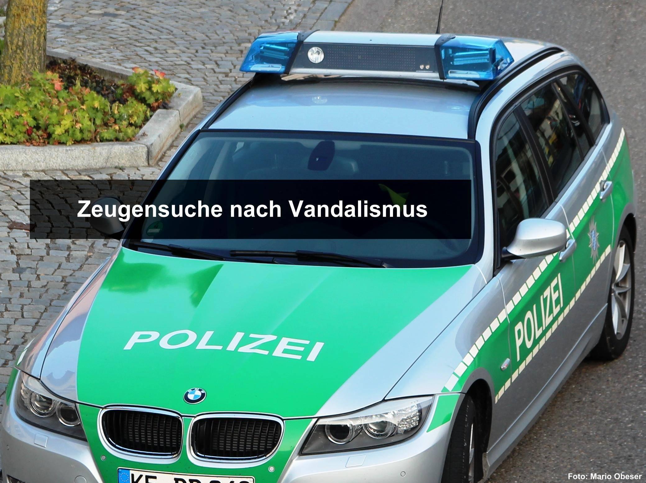 Zeugen Vanalismus, Vandalen, Polizei, Obeser Mario, bsaktuell