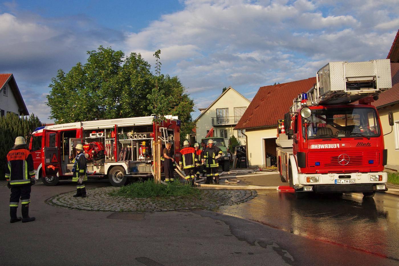 Brand Balzhausen, Feuerwehr, Bsaktuell, Weiss, Obeser