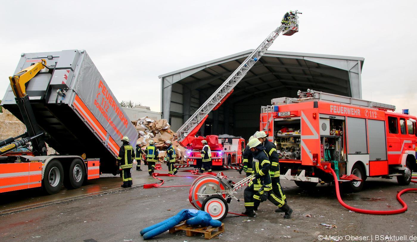Übung der Feuerwehr Günzburg