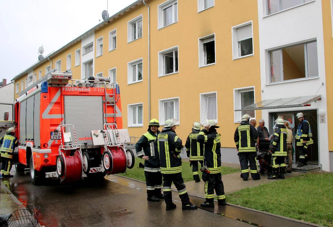 Brand, Feuerwehr Günzburg, Schwaben, Obeser, feuerwehr Günzburg