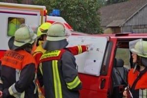 Schlimmer Brand in Ziemetshausen, bei dem fünf Menschen teils lebensbedrohlich verletzt wurden.