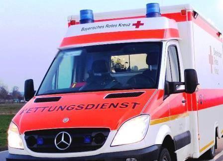 Rettungswagen des Bayerisch Roten Kreuzes