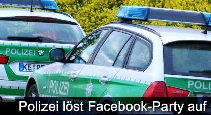 Facebook PartyvonPolizeibeendet