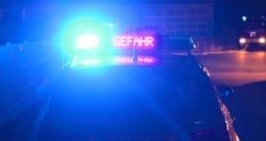 Polizei Gefahr, Polizeifahrzeug Nacht,
