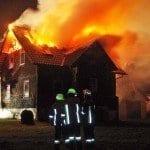 Brand eines Hauses in Ebersbach bei Krumbach Schwaben
