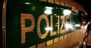 Polizei, Schriftzug Polizeifahrzeug Bayern