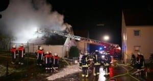 Brand Wohnhaus Kammeltal Ried Behlingen