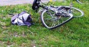 Fahrradunfall mit verbogenen Rädern