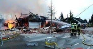 Haus explodiert in Echenbrunn Gundelfingen