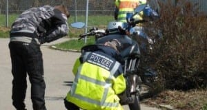 Motorradkontrollen durchgeführt