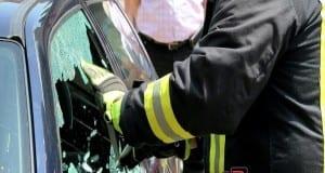 Feuerwehr Glas Scheibe