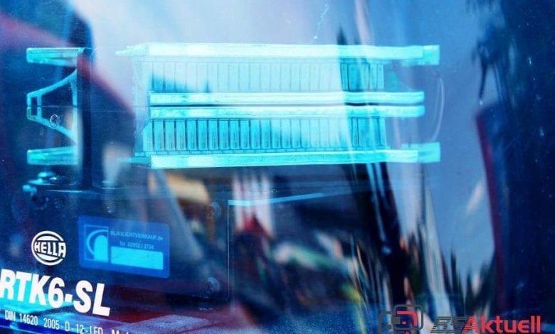 ausgeschaltetes LED Blaulicht