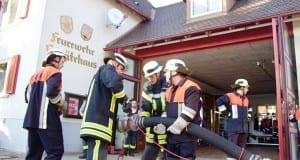 Feuerwehr Reisensburg Saugleitung