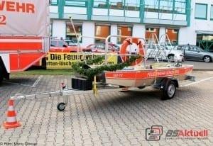 Feuerwehr Günzburg Hochwasserschubboot