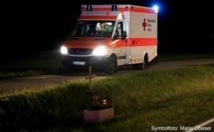 Rettungswagen, kreuz, tödlich
