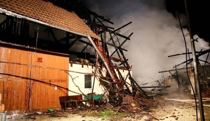 Brand Burtenbach landwirtschaftliches Anwesen