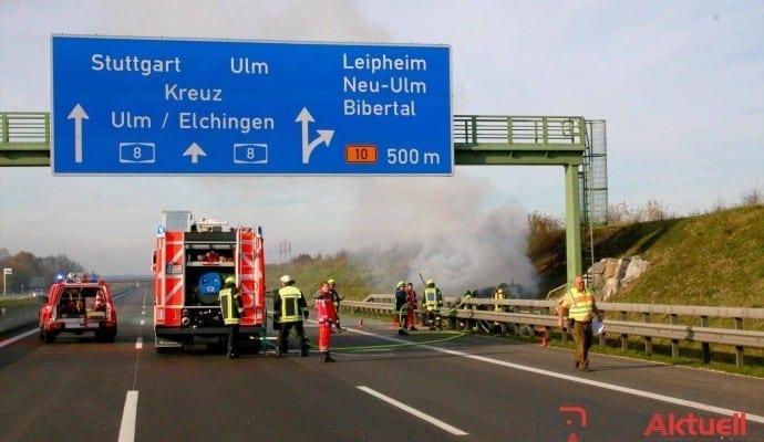 ToedlicherVerkehrsunfallaufderAutobahnbeiLeipheim.