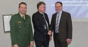 Polizeipräsident Michael Schwald, Klaus Bayerl und Gerhard Zintl.
