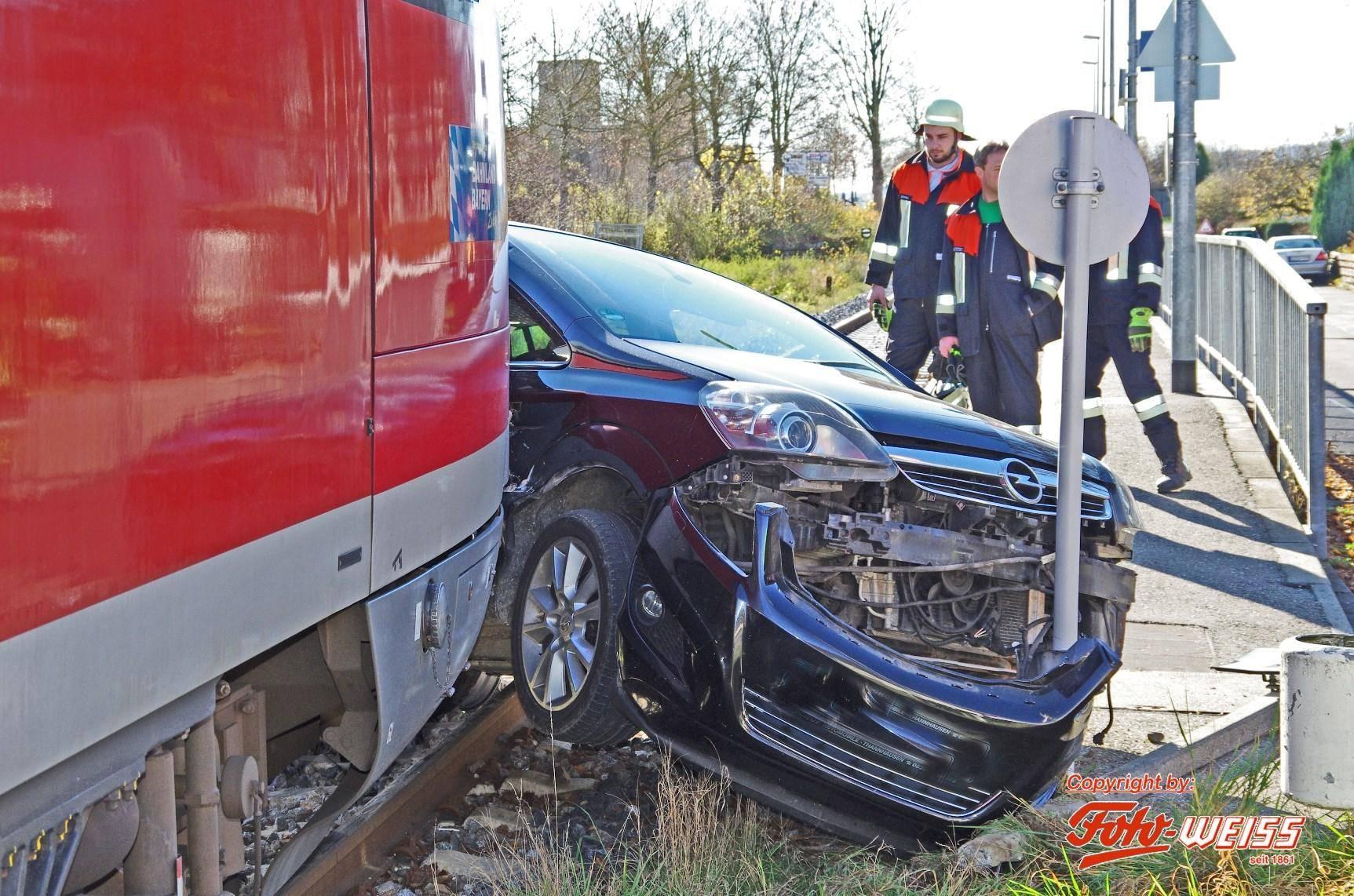 Zugunfall in Neuburg an der Kammel