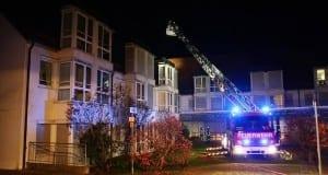 Gemeinsame Übung: Dachstuhlbrand im Pflegeheim