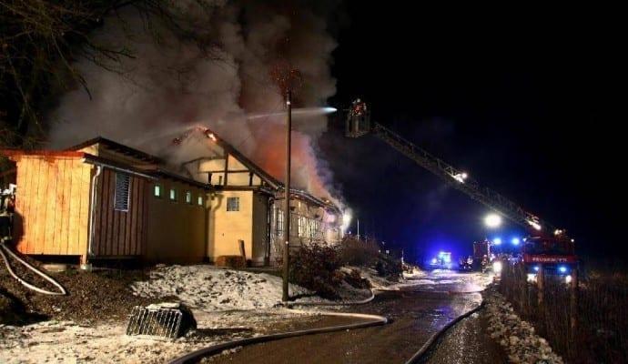 BrandGaststätteLammkellerbeiBurgauam..