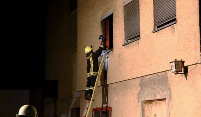 Zimmerbrand leerstehendes Wohnhaus Günzburg