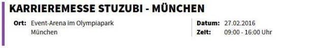 Karrieremesse stuzubi - München
