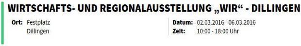 """Wirtschafts- und Regionalausstellung """"WIR"""" - Dillingen"""