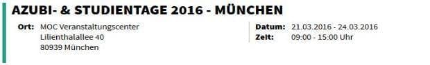 Azubi- & Studientage 2016 - München