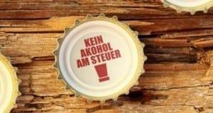 Kein Alkohol am Steuer steht im Bierkäpsele
