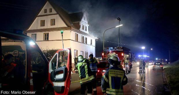Zimmerbrand in Goldbach mit Sachschaden.