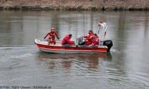 Vermisstensuche Guenzburg mit Boot auf der Donau