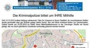 Steckbrief Guenzburg Brandstiftungen