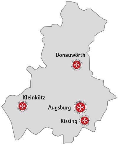 Standorte Johanniter Regionalverband Schwaben