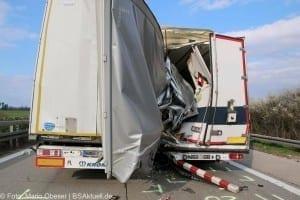 Verkehrsunfall A7 Herbrechtingen