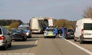 Verkehrsunfall A7 Herbrechtingen Autobbahn 7