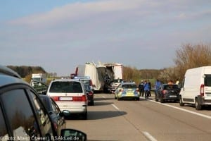 Verkehrsunfall A7 Herbrechtingen Verletzte
