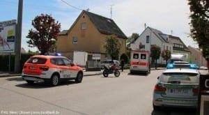 Verkehrsunfall mit Motorrad Ichenhausen