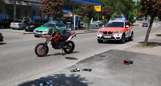 Verkehrsunfall mit Motorrad Ichenhausen am 22.05.2016