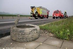 Verkehrsunfall Autobahn 8 Leipheim 28052016 2