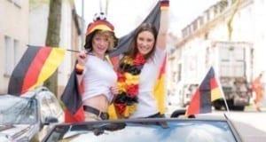Fussball Frauen Autokorso