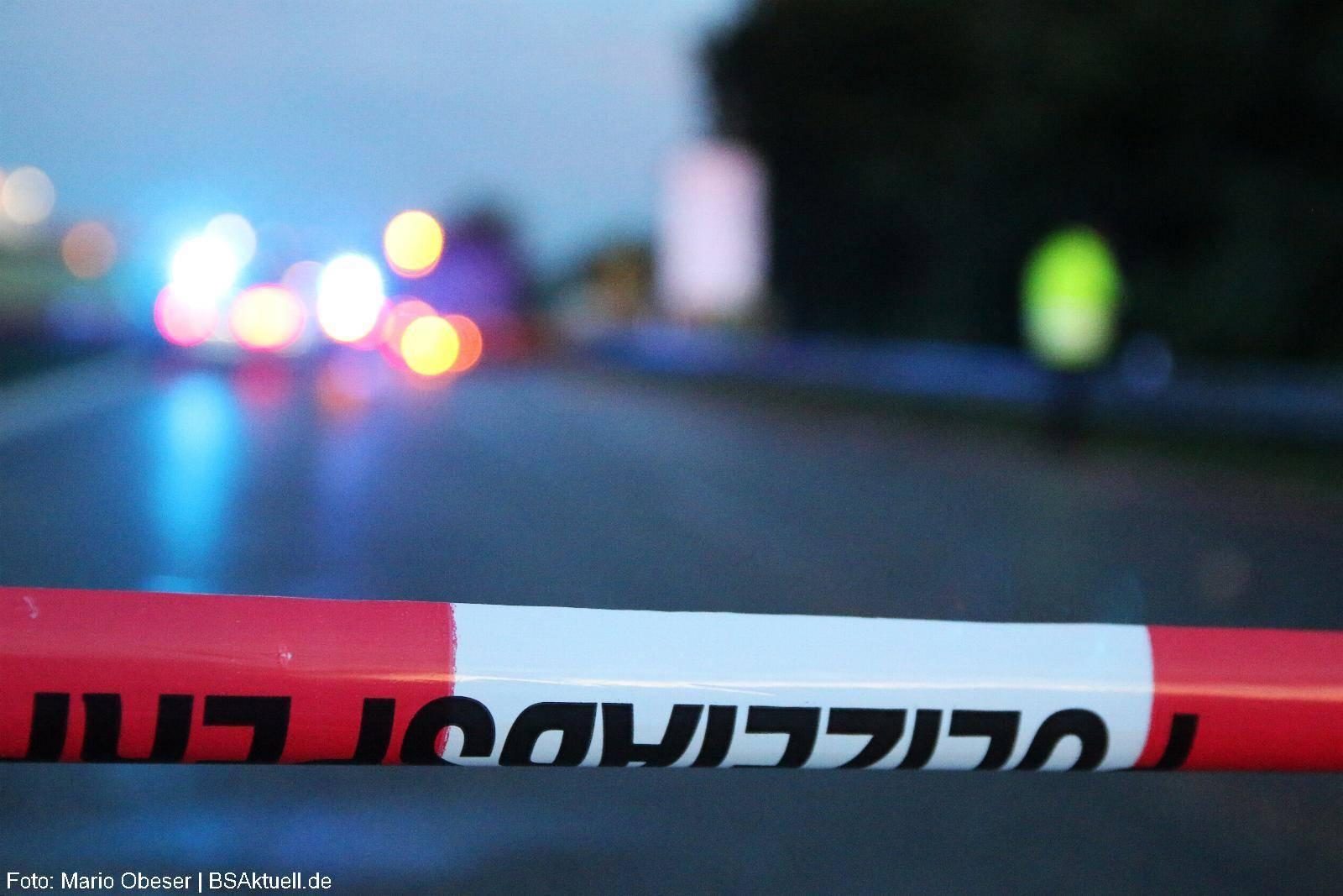 Polizeiabsperrung Polizeiauto Unfall B10