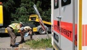 Motorradunfall Offingen-Gundremmingen 2